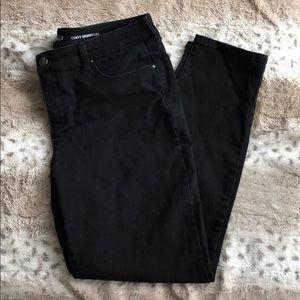 Black Curvy Skinny Leg Jeans